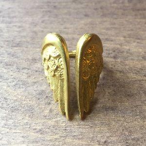 Jewelry - Brass angel wings ring